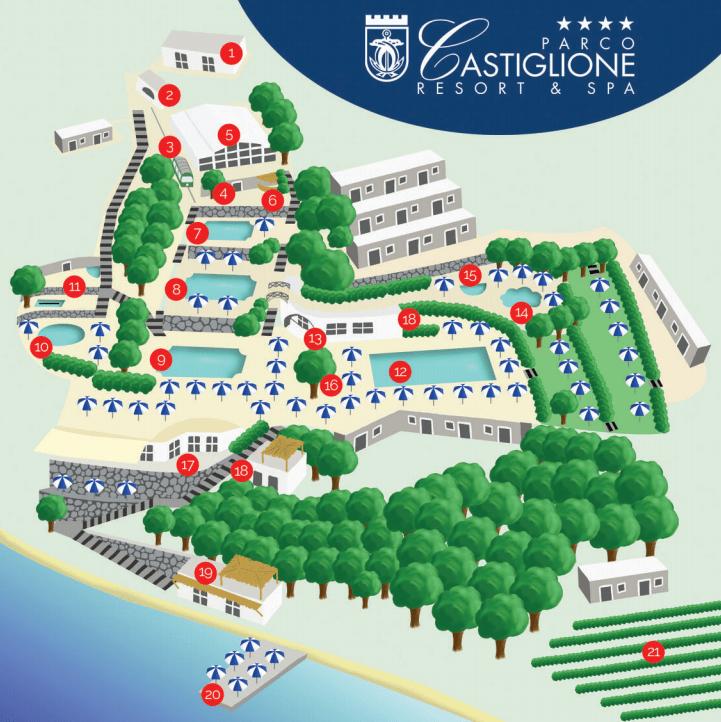 mappa parco termale castiglione